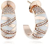 Joop Damen-Creolen 925 Sterling Silber Harz Zirkonia Stripes weiß JPER90308C000
