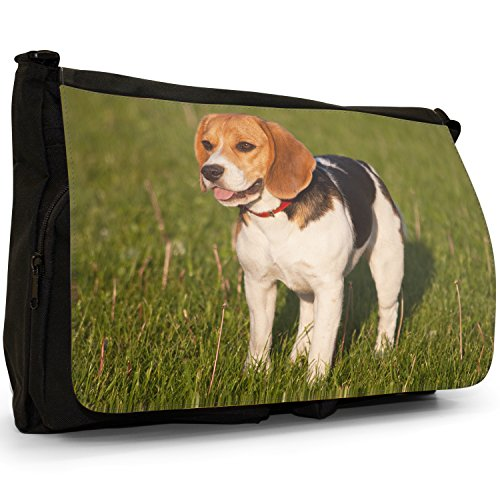 Fancy A Bag Borsa Messenger nero Beagle Dog Beagle Dog