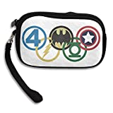Launge Superhero Olympic Rings Coin Purse Wallet Handbag