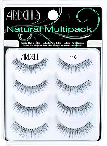Ardell 110, Lashes, Multipack, 4 Pares Pestañas