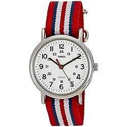 Timex Unisex-Armbanduhr Weekender Slip Through Analog Nylon T2N746D7