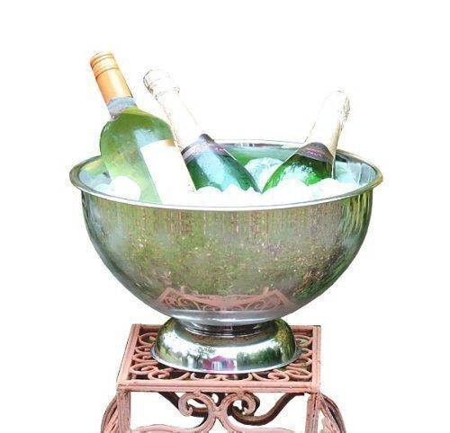 riesiger EDELSTAHL Sektkübel Champagnerbowl Sektkühler Weinkühler
