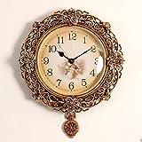 ZHDC® Orologio di parete creativo Orologi Orologio da parete Soggiorno arte moderna stile europeo muto orologio al quarzo Home wall clock ( Colore : #2 )