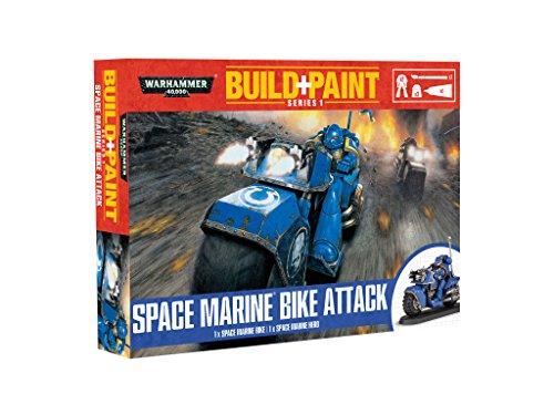 Revell-Monogram Revell GmbH Warhammer 40,000 Space Marine Bike Attack Build and Paint Set