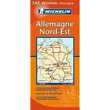 Carte Régional Allemagne Nord-Est