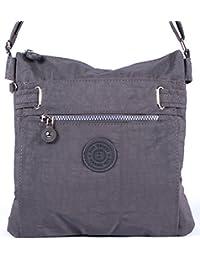 sportliche Handtasche / Schultertasche / Umhängetasche aus Nylon - erhältlich in verschiedenen Farben