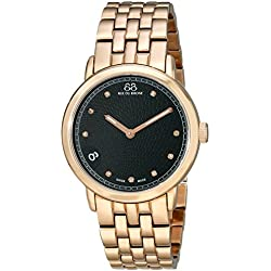 88 Rue du Rhone Women's 87WA120017 Rose Gold-Tone Stainless Steel Watch with Diamond Markers