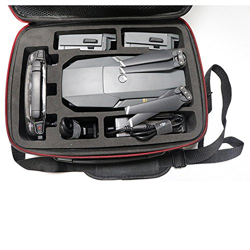 Fulltime® PC + ABS Hardshell Wasserdichte Tragetasche Suitcase Umhängetasche für DJI Mavic Pro RC Quadcopter, 29 x 21 x 11cm, Schwarz (Schwarz) - 3