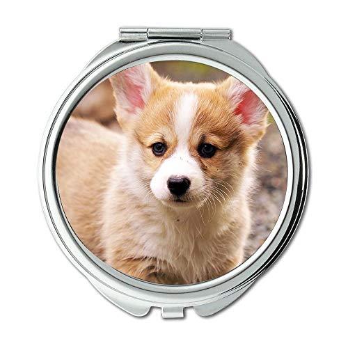 Yanteng Spiegel, Runder Spiegel, Taco Dog, Taschenspiegel, 1 X 2X Vergrößerung