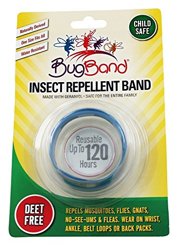 Bug Band 88207 Blister Plastic Card Wrist Band Repelling Insecto, Azul