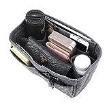 APSOONSELL Taschenorganizer Organisator Einsatz aus Filz Einsatz 10 Fächer Grau Mittel