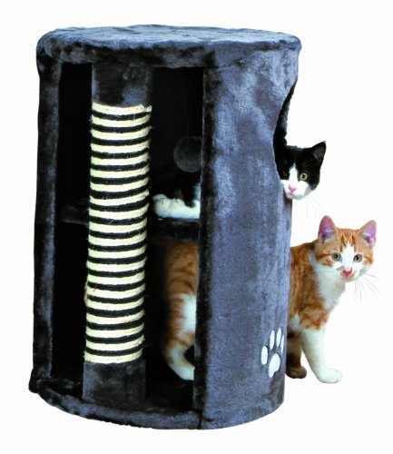 katzeninfo24.de Trixie 4336 Cat Tower, ø 33 cm/50 cm, anthrazit