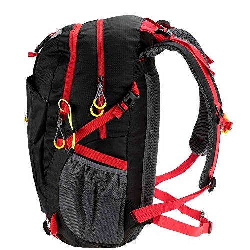 Docooler 40L Traspirante Spalla Zaino Viaggio Trekking Alpinismo Zaino Unisex Zainetto All'Aperto nero