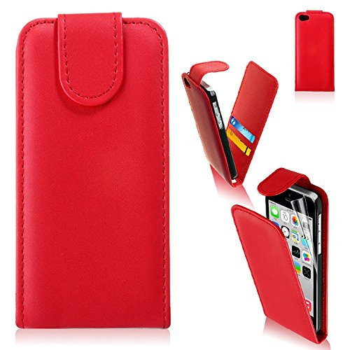 Stylish Iphone 4 4S 4G Red Flip Leather Wallet Case for sale  Delivered anywhere in UK