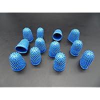 Progom - Dedil o dedal de goma - n° talla 1 (ø17 mm) - azul - Bolsita de 12 piezas