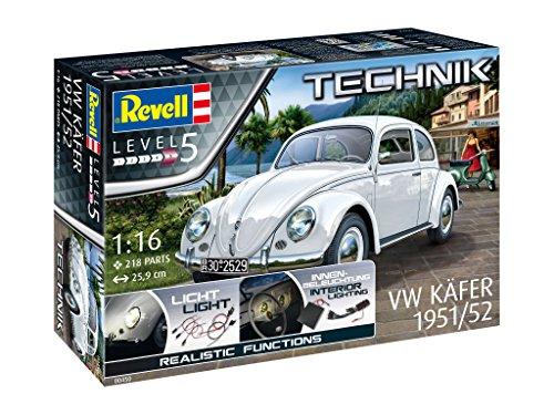 Revell Kit de Modelo, Volkswagen VW Escarabajo 1951/1952 con Elektronik para interesantes Efectos 1: 16 Escala (00450)