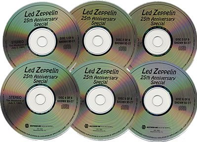LED ZEPPELIN The Silver Anniversary (US Westwood One 6-CD radio show) 1993