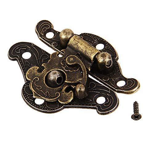 10 x bronce antiguo joyero caso hebilla candado candado candado bronce