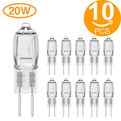 Starcell G5.3 10X 20W Bi-Pin Glühbirne Halogen Lampe Warmweiß 12V, 20 Watt, G5.3 12.0volts - 20 W Bi-pin-sockel