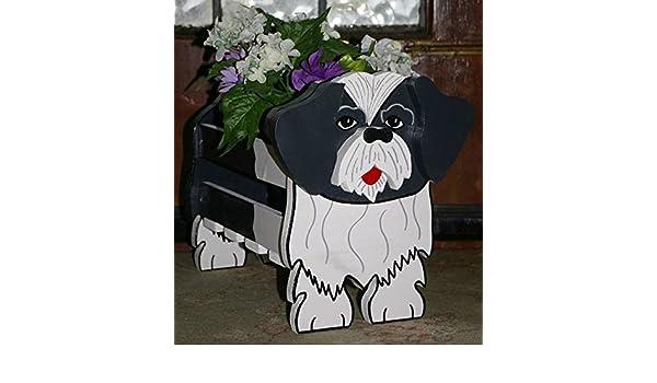 Shih Tzu Planter Dog Dogs Pets Garden Ornaments Decorations Plants
