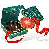 Tè di Natale, Tin Caddy, 100% puro - The Perfect Christmas Tea Blend, Tè in foglia sfusa - Cresciuto, confezionato e spedito direttamente da Source in India - Set da regalo per tè perfetto - 75gr