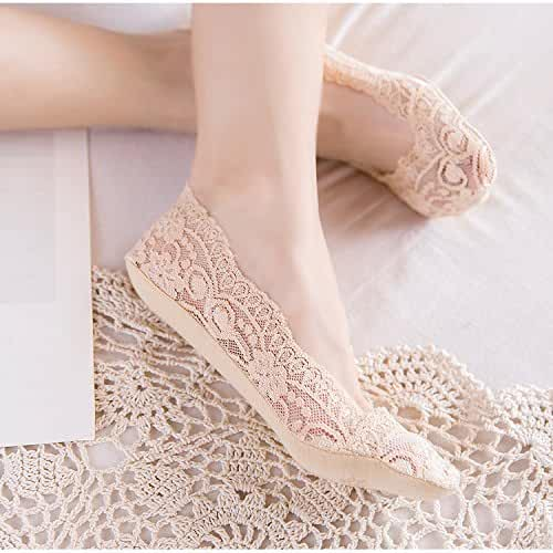 3cf6d0c2b Everperfect Lace Ruffle Sock Soft Comfy Sheer Silk Spandex Cotton Elastic  Mesh Knit Frill Ankle Socks