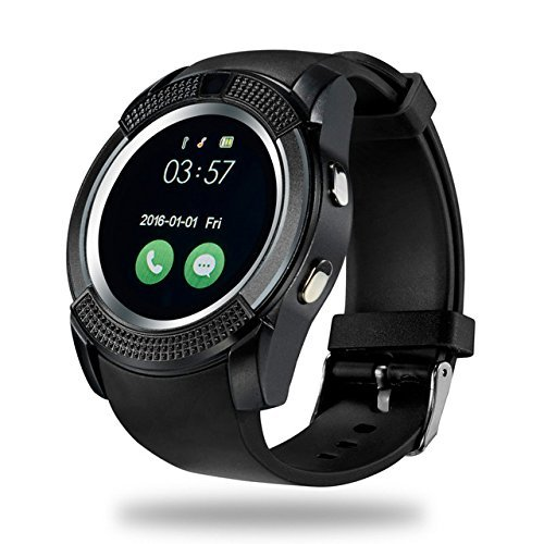 HIMTRONICS ALL FEATURES WATCH Bluetooth Smartwatch | Touch Screen |Camera and Sim Card Support With Apps & with activity trackers and fitness band features Compatible Xiaomi Redmi Note