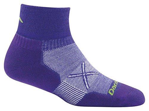 Darn Tough Coolmax Vertex 1/4 Ultralight Sock - Women's Deep Purple Medium (1/4 Sock Coolmax)