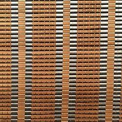 MYMAO 01Persianas venecianas, Cortina de bambú de persiana de Rodillo-Natural de bambú cordón Cortina de bambú a Prueba de Polvo y Cortina de partición Hueco Impermeable,A,135x225CM