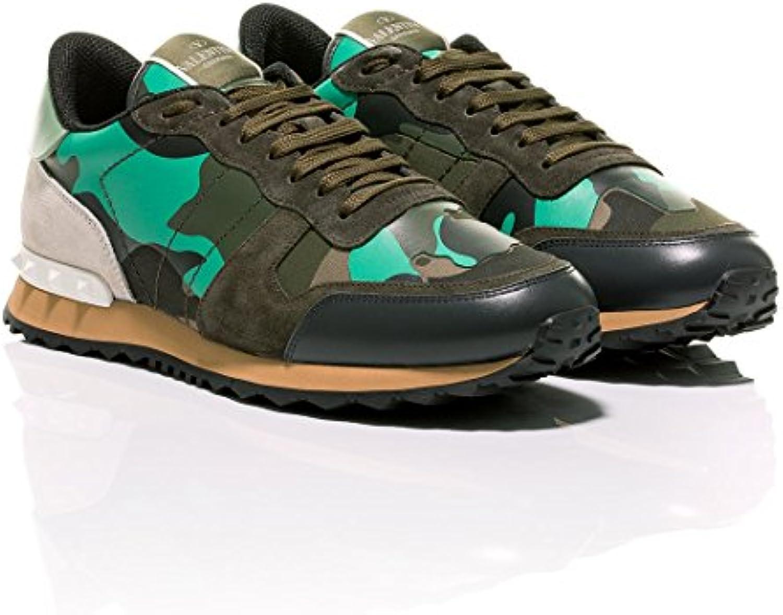 Valentino Herren Sneaker Grün Grün  Billig und erschwinglich Im Verkauf