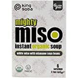 King Soba Podría Miso Con Salsa De Edamame Soja 60g Instantánea Sopa Orgánica (Paquete de 6)