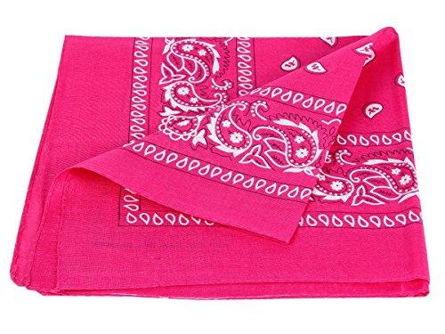Bandana rosa scuro paisley multifunzione classica BA-93 di colori diversi foulard scialle collo rocker biker motociclista motorcycle pirata accessorio hip hop cappellino cowboy bracciale