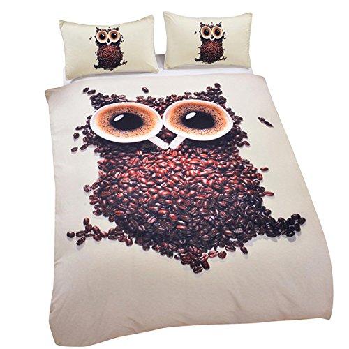 polyester textile 3d eule tier quilt bettwäsche eine vierköpfige familie , Königin