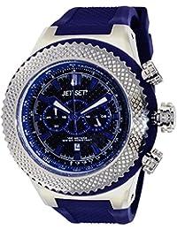 Jet Set  - Reloj de cuarzo para hombre, correa de caucho color azul