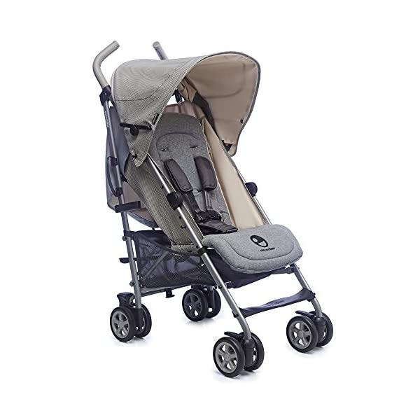 Easywalker Buggy Milano Melange  Suitable from birth 5 point 3 position harness Four recline positions with near flat recline 1