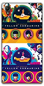 The Racoon Lean yellow submarine hard plastic printed back case / cover for Sony Xperia Z1