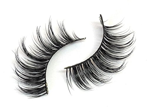 Babydoll Faux Mink Eyelashes Wispie Multi Layered C Curl Tips | Cruelty Free | Reuseable Wispie Strip Lashes | False Fake Lashes Eyelash Extensions With Thin Natural Curved Band