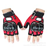 SunFlower pro-Biker Fahrrad kurz Sport Leder Motorrad POWERSPORTS Racing Handschuhe, R, XL