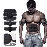 Lecc Stimulateur Abdominal Sports Muscle Fitness Equipment USB De Charge Home Fitness Muscle Stickers Matériel pour Abs/Abdomen / Bras/Jambe / Taille