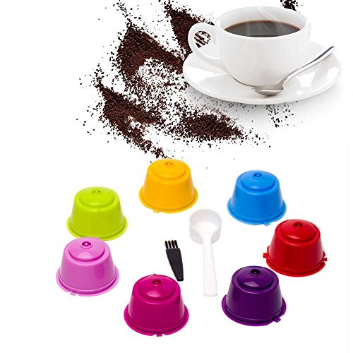Funihut Cápsulas Filtros De Café - Recargable Reutilizable para Dolce Gusto Cafetera, Filtros Cápsulas De Café con Cuchara Y Cepillo, Coffee Filter