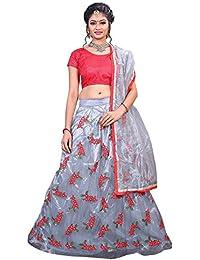 ShreeBalaji multicolor silk embroidary Lehenga Choli (SBE-011_Free Size)