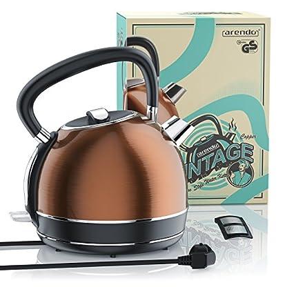 Arendo-Vintage-Edelstahl-WasserkocherTeekessel-Retro-Style-max-2200W-Herausnehmbareraustauschbarer-Kalkfilter-Fllmenge-max-17-Liter-automatische-Abschaltung-Kupfer-Design