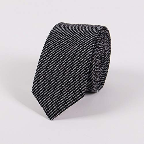 Krawatten für Herren Cotton tie 6.5cm narrow version men's fashion casual England jacquard point tie,D