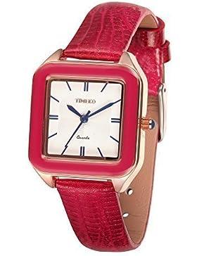 Time100 Strass Armbanduhr für Damen und Mädchen damenuhr Rot #W50347L.02A