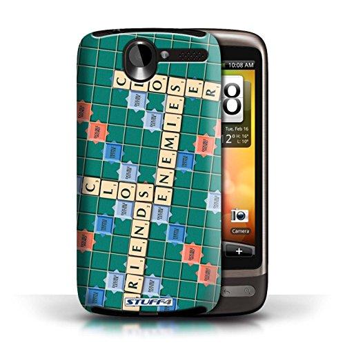Kobalt® Imprimé Etui / Coque pour HTC Desire G7 / Coeur Chaud conception / Série Mots de Scrabble Ennemis Proximité
