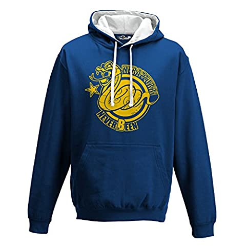 Sweatshirt Two Tone Hooded Jacket Biscione nerazzurri Amala Ultras Cheer