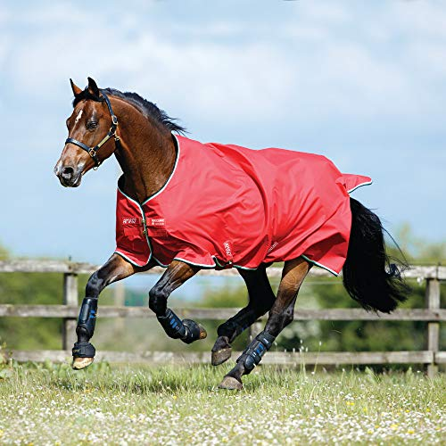 Horseware Amigo Hero ACY Lite 50g Regendecke Red/White (130)