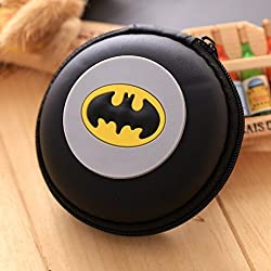 Shopkooky Batman Printed Designer Attractive Silicon Round Zipper Earphone Case   Headphones Cable Earbuds Wire Storage Box   Jewelry Organizer Protector Pouch Bag   Return Gift   Birthday Gifts Online