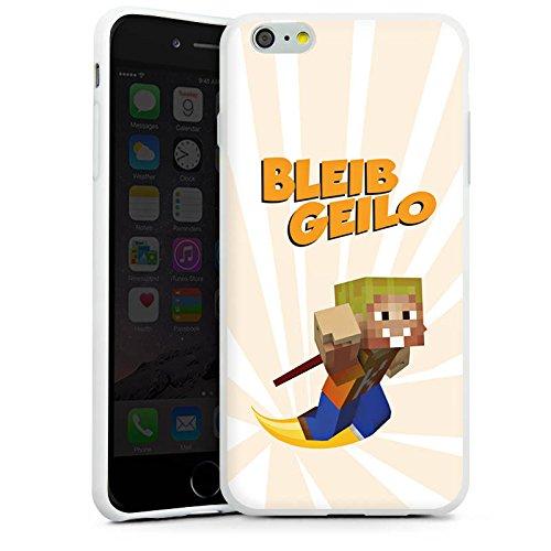 Apple iPhone X Silikon Hülle Case Schutzhülle LPmitKev Fanartikel Merchandise Bleib Geilo Weiß Silikon Case weiß
