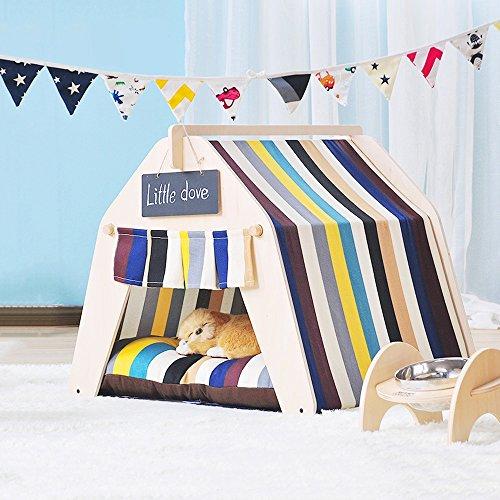 Yqq tenda per animali domestici carino bel letto per animali domestici pet casa per cani rimovibile e lavabile prodotti per animali autunno e inverno tappeto spesso 6 stili